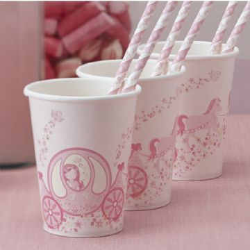 Princess Party Paper Cups - pack of 8